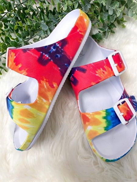 Corkys Waterslide Sandal Tie Dye