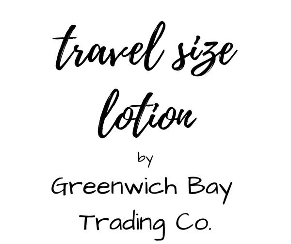 Greenwich Bay Travel Lotion