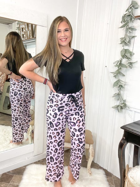 Lilac Leopard Lounge Pants