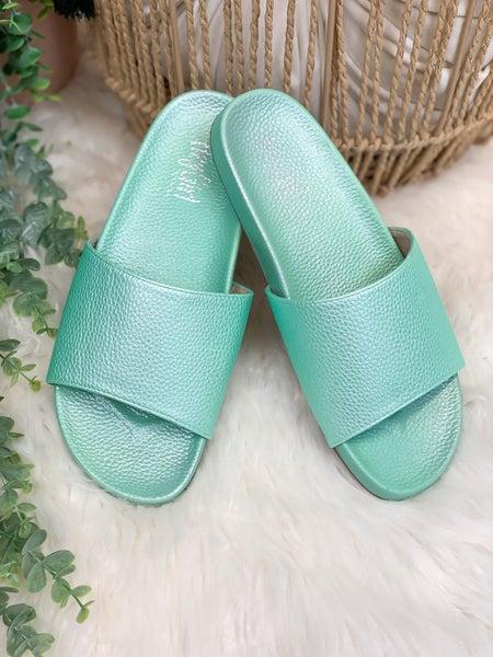 Corkys Backyard Sandal - Mint - ALL SALES FINAL -