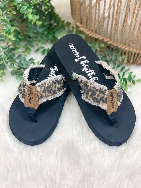 Gypsy Jazz GJazz Flip Flop - Tan Leopard