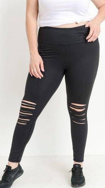 Black Laser Cut Leggings