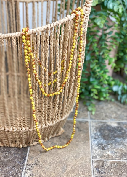 Marigold Crystal Skinny Bead Necklace