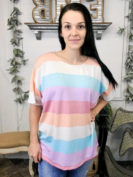 Pastel Stripes Top