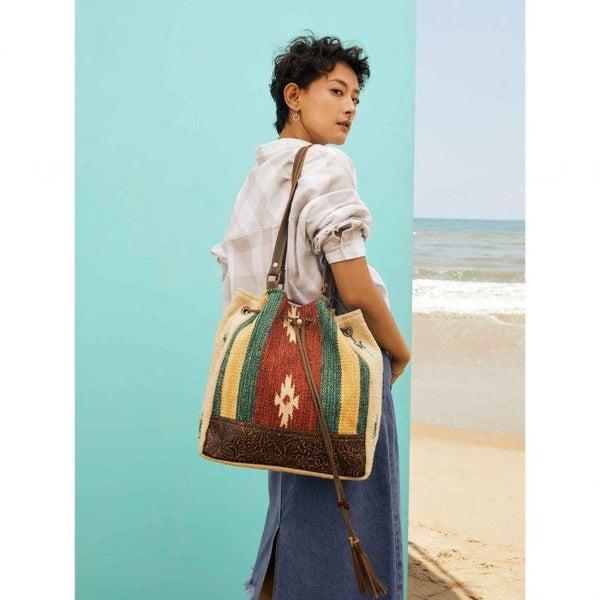 Myra Radiant Red Bucket Bag
