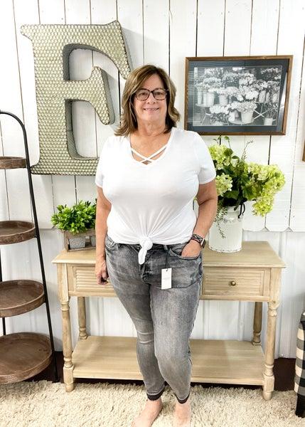 Judy Blue Grey High Waist Jeans - JB88165