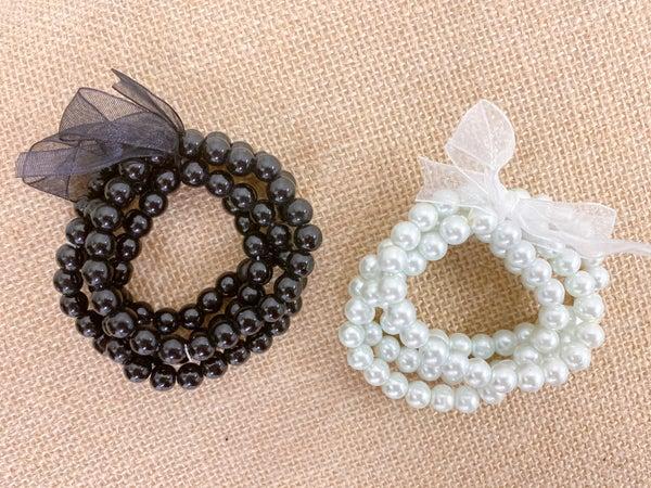 Ribbon & Pearls Bracelet Set*