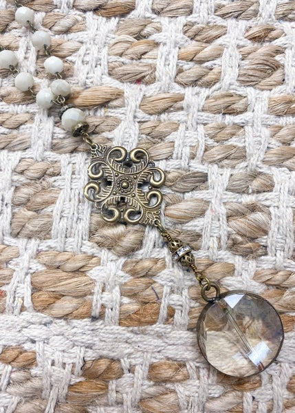 Charly's Treasures - Venice Long Medallion Necklace