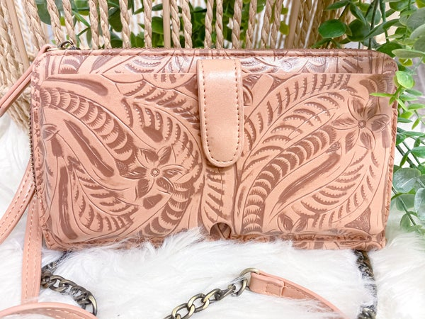 Tooled Crossbody Wallet (ONLINE ONLY)*