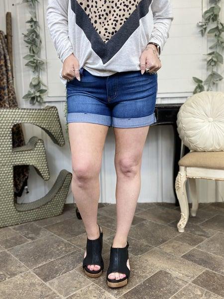 Judy Blue Cuffed High Waisted Shorts JB18163