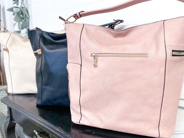 Tassel Side Zip Boho Bag