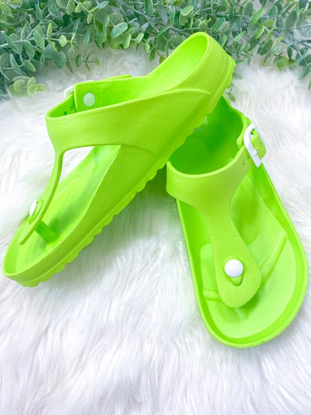 Corkys Jet Ski Sandal Lime ( ALL SALES FINAL )
