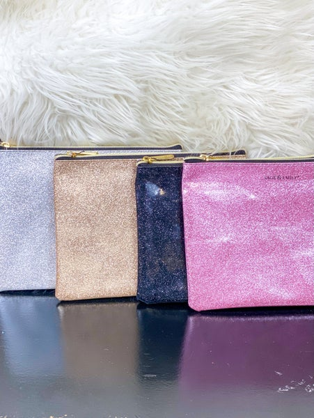 Glitter Makeup Pouch {Multiple Colors Available}*
