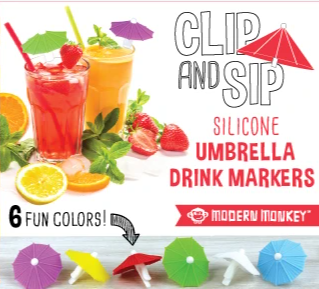 Clip & Sip Umbrella Drink Markers {ONLINE ONLY}*