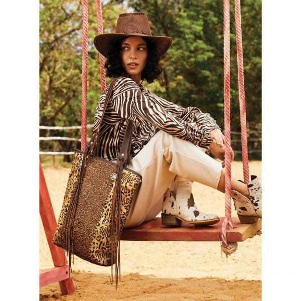 Myra Golden Studs Hairon Bag