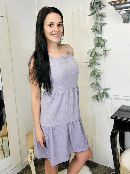 Lavender Tie Shoulder Tiered Dress (ONLINE ONLY)*