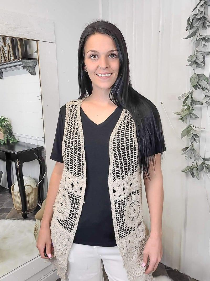 Mocha Crochet Vest*