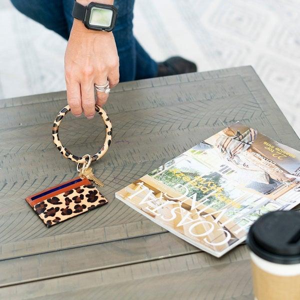 Card Holder Keychain Bracelet