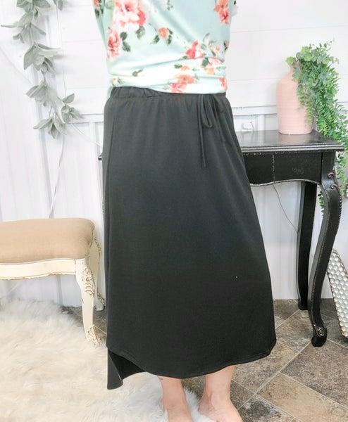 Black Midi Skirt (ONLINE ONLY)*