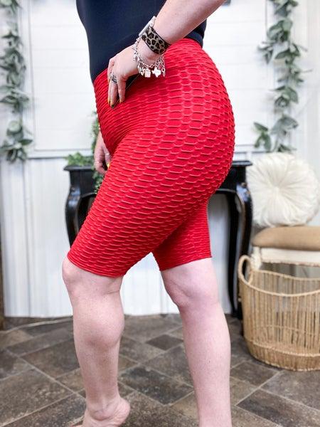Red Brazilian Biker Shorts