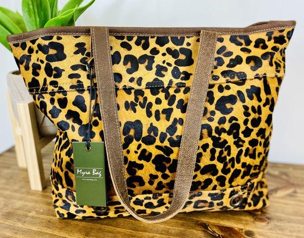 Myra Clinch Leather & Hairon Bag
