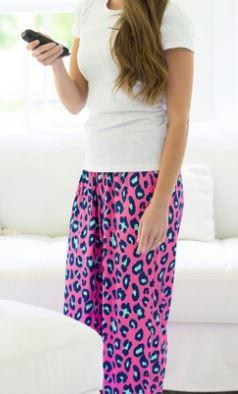 Hot Pink & Turquoise Leopard Lounge Bottoms