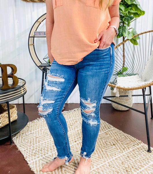 Judy Blue High Waist Skinny Jeans - JB82147MD