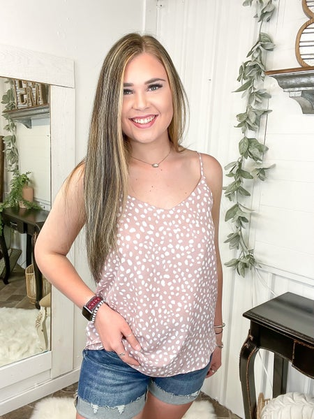 Mauve & Cheetah Print Camisole Top (ONLINE ONLY)*