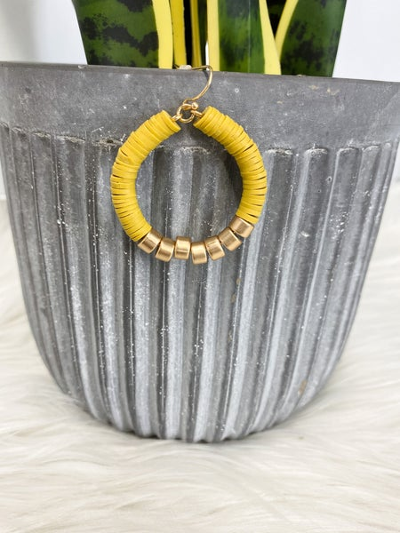 Tiny Heishi Style Hoop Earrings {Multiple Colors Available}