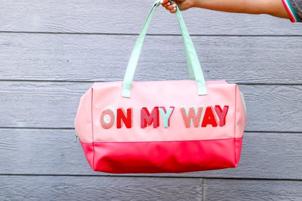 On My Way Duffle Bag (Mint/Coral)