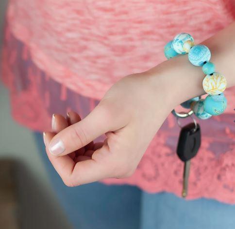 Jilzarah Clay Bead Wrist Keychain