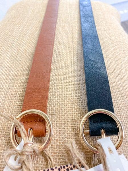 "1"" Faux Leather Fashion Belt"