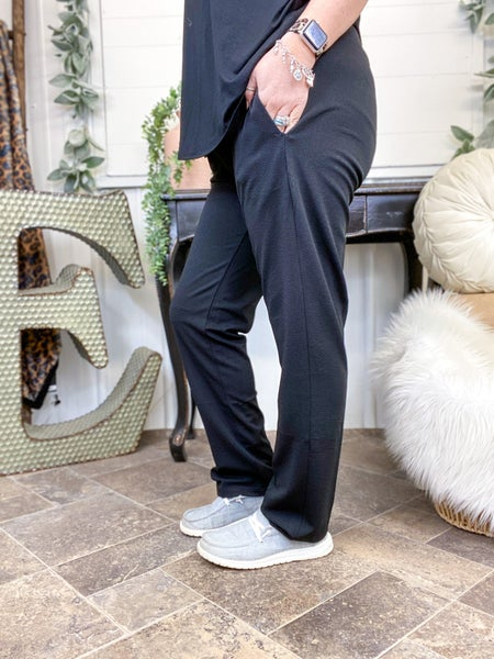Black Crepe Pants (ONLINE ONLY)*