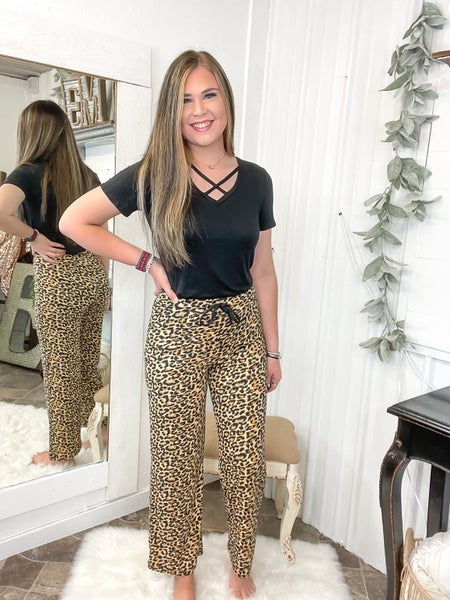 Wild Leopard Lounge Pants (ONLINE ONLY)*