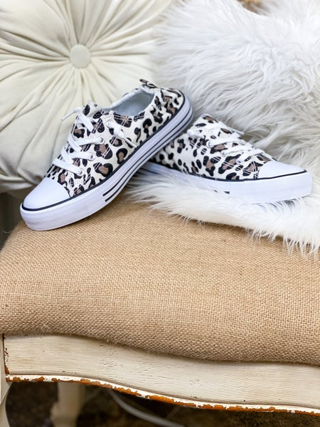Snow Leopard Canvas Sneaker