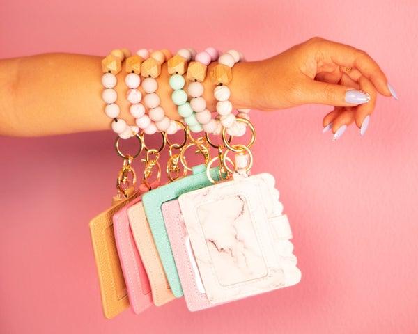 Beaded Bracelet Keychain & Cardholder