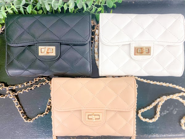 Wendy Quilted Clutch Crossbody
