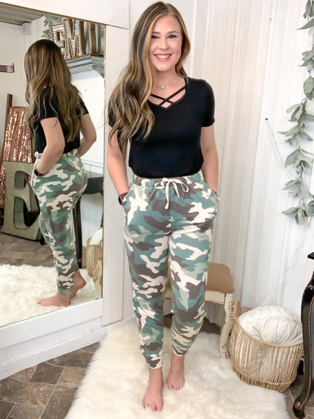 Green Camo Jogger Pants  (ONLINE ONLY)*