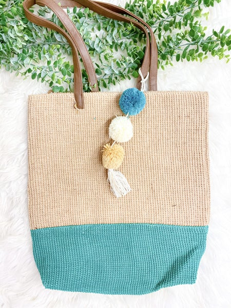 Karma Two Toned Jute Tote (ONLINE ONLY)*