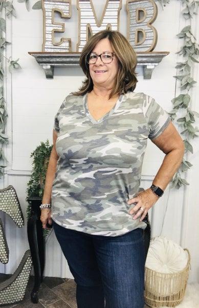 Olive Camo T-Shirt Top