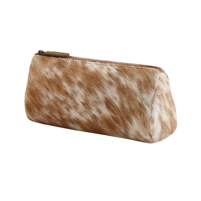 Myra Sandy Leather & Hairon Pouch