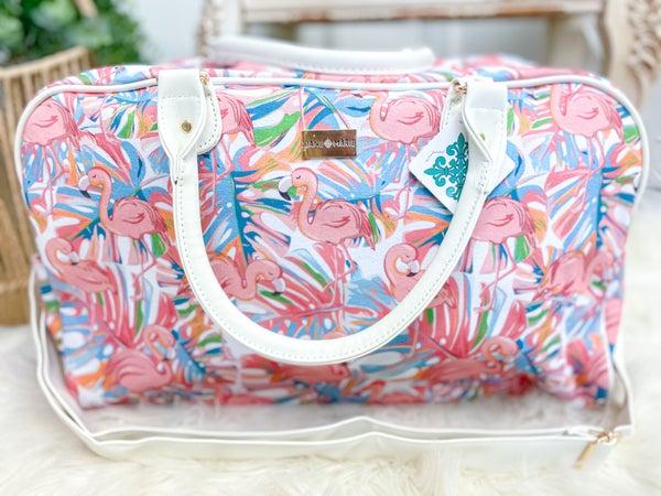 Think Pink! Flamingo Overnight Bag