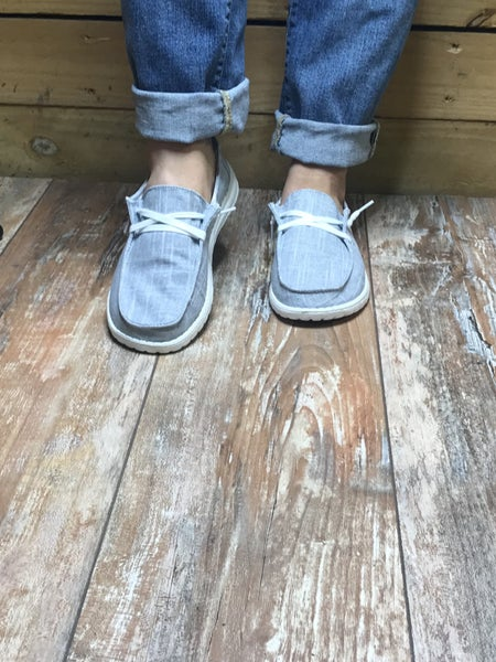 Light Grey Holly Boat Shoe