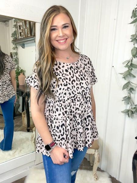 Mocha & Leopard Baby Doll Top (ONLINE ONLY)