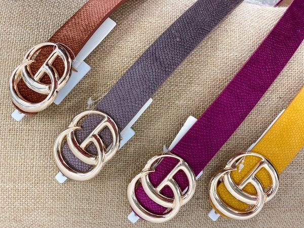 Velvet Snake Print Belt