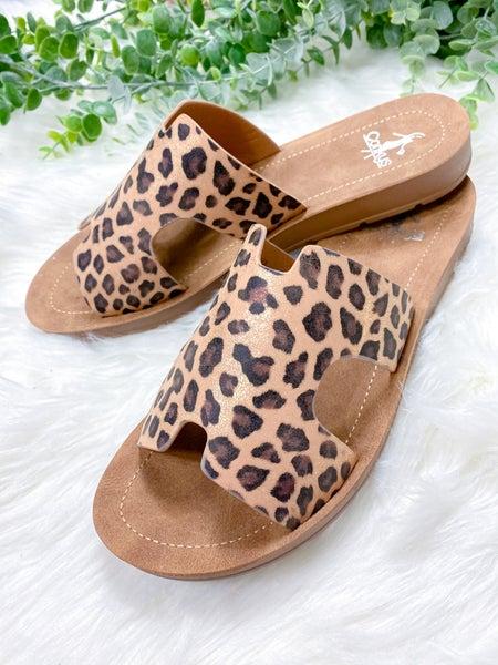 Corkys Bogalusa Gold Leopard Sandal - ALL SALES FINAL -