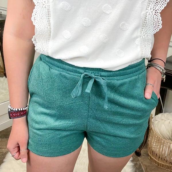Teal Soft Knit Shorts