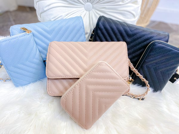 Chevron Quilted Purse & Wallet