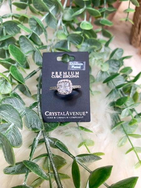 Halo Cubic Zirconia Ring