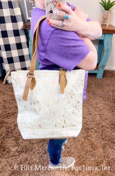 Myra Tingles Leather Tote Bag